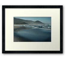 cool blue morning Framed Print