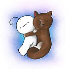 Kitty and Cry cuddling by Hewiie