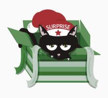 Naughty Cat Christmas Surprise Kids Clothes