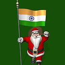 Santa Claus With Flag Of India by Mythos57