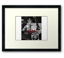 Who Are You Now // Sleeping With Sirens Framed Print
