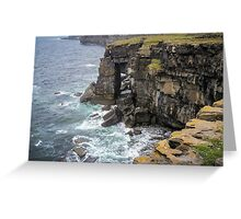 The Savage Cliffs of Killeany Greeting Card