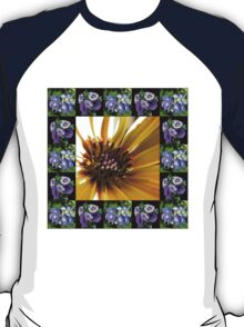 Cape Daisy, Lisianthus and Hydrangea Collage T-Shirt