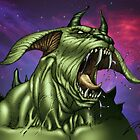 Alien Dog Monster Warrior by Al Rio by alrioart