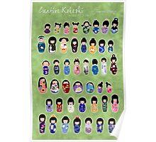 Creative Kokeshi & Kimono Designs Poster