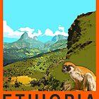 Visit ETHIOPIA Travel Poster by FinlayMcNevin