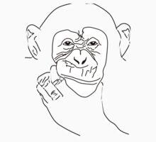 Chimpanzee T-shirt the thinker Kids Clothes