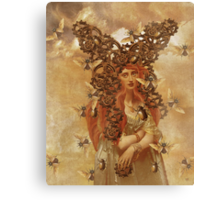 Clockwork Beetle {the beetle catcher} Canvas Print