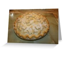Apple Pie Hot from the Oven Greeting Card