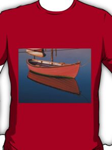 Small dinghy dory floating in the water T-Shirt