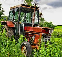 Old vintage tractor digital art manipulation by ronyzmbow