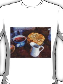 Classical breakfast outmeal waffer and jam  T-Shirt