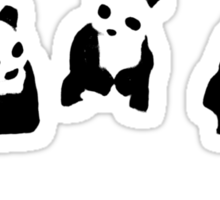 PANDA t-shirt Sticker