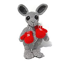 Crochet Kangaroo Photographic Print