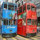 Hong Kong - Trams by sparrowhawk