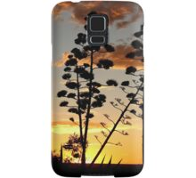 """Garingbome"" Silhouette... The Sisal Plant (Captured from my backyard) Samsung Galaxy Case/Skin"