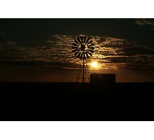 Free State Sunset At The Mill... South Africa Photographic Print