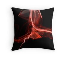 Black smoke 6 Throw Pillow