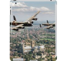 Two Lancasters over Lincoln iPad Case/Skin