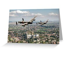 Two Lancasters over Lincoln Greeting Card