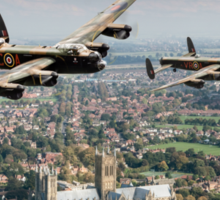 Two Lancasters over Lincoln Sticker