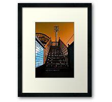 Steps Over The Line Framed Print