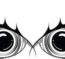 Owl eyes black white by gregoryco