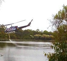 Bushfire Helicopter at Glenbrook Lagoon by GeorgeOne
