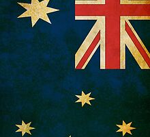 Vintage Grunge Australian Flag by sale