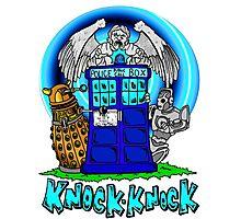Doctor Who Knock Knock on the Tardis Photographic Print