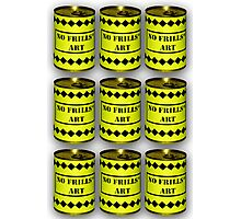 No Frills* Art cans (Face Up)  Photographic Print