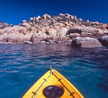 kayak over coral - Nth Qld by Tony Middleton
