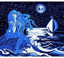 Mermaid moon by goanna