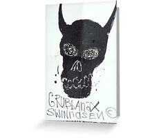 Black Skull Greeting Card
