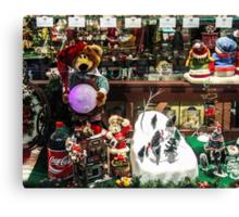 A Coke for Santa Canvas Print