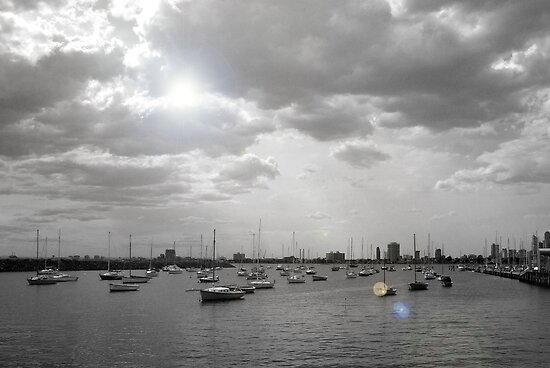 Boats in St Kilda by Dani Di Cesare