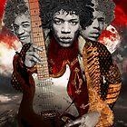 Hendrix by hubertfineart