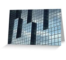 Glass Building I Greeting Card