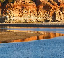 Gold and Blue Reflections by KathyT