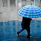 Blue Umbrella by Chroma