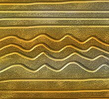 Abstract Gold Texture Wavy Lines Pattern by semas