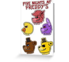 Five Nights at Freddy's Characters Greeting Card