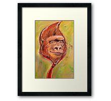 Realistic Donkey Kong Framed Print