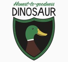 Honest-To-Goodness Dinosaur: Duck (on light background) T-Shirt