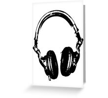 DJ Headphones Stencil Style Greeting Card