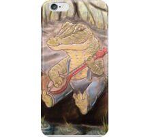 Alligator Playing The Banjo iPhone Case/Skin