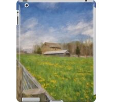 Stone Barn On A Spring Morning iPad Case/Skin