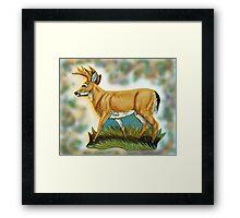 Craft Foam Deer Framed Print