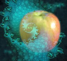 Apple and fractal by Freda Surgenor
