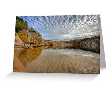 Blue Lake - St Bathans reflections Greeting Card